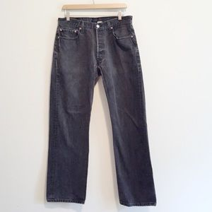 Levi's Jeans - Vintage Levi's 501 high waisted jeans faded black